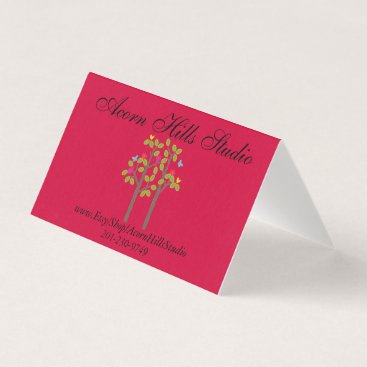 Professional Business Chic Boutique Red Thank You Card