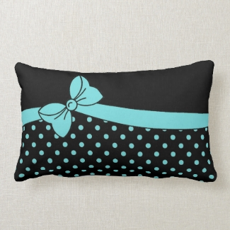 chic  bow/dots pillow-monogram