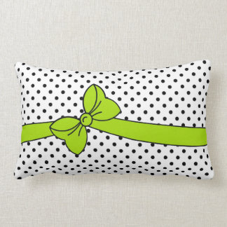chic bow pillow-dots lumbar pillow