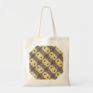 Chic Braiding On Brown Background Design Tote Bag