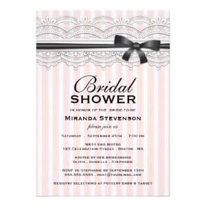 Chic Bridal Shower Lovely Lace Invitation