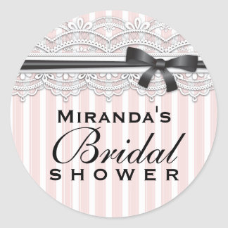 Chic Bridal Shower Lovely Lace Sticker