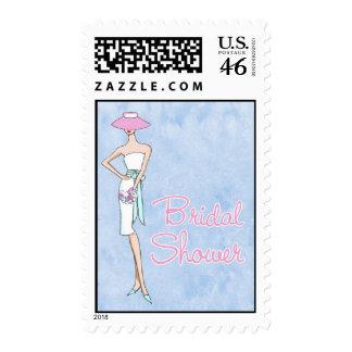 Chic Bride Bridal Shower Postage Stamps