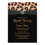 Chic Bright Diamond & Leopard Print Bridal Shower Card