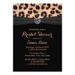 Chic Bright Diamond & Leopard Print Bridal Shower Invitation