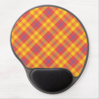 Chic Bright Red Yellow and Blue Plaid Gel Mousepad