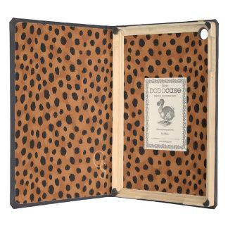 Chic brown cheetah print monogram case for iPad air
