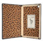 Chic brown cheetah print monogram iPad air cases