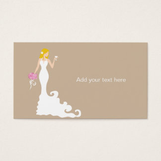 Chic Brown Modern Bride Gift Tag Card