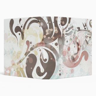 Chic bubbles + swirls binder
