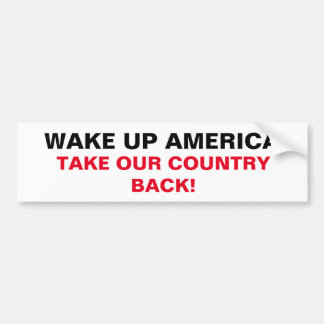 """CHIC BUMPERSTICKER_""""TAKE OUR COUNTRY BACK"""" BUMPER STICKER"""
