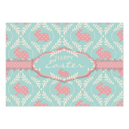 Chic Bunny Gift Tag Large Business Cards (Pack Of 100)