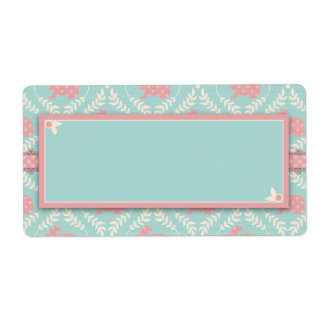 Chic Bunny Name Tag Labels