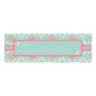 Chic Bunny Skinny Gift Tag 2 Business Cards