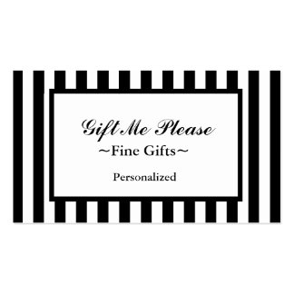 CHIC BUSINESS CARD_07 BLACK/WHITE STRIPES Double-Sided STANDARD BUSINESS CARDS (Pack OF 100)