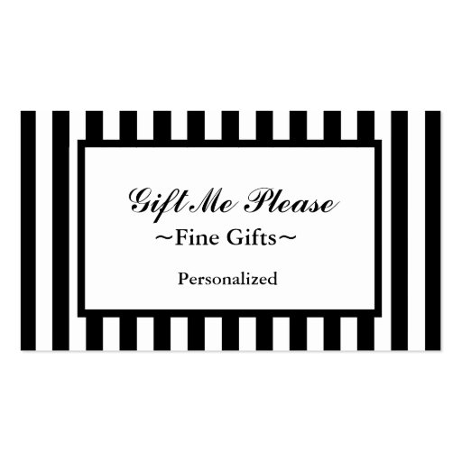 CHIC BUSINESS CARD_07 BLACK/WHITE STRIPES BUSINESS CARDS