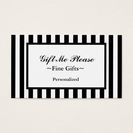 CHIC BUSINESS CARD_07 BLACK/WHITE STRIPES BUSINESS CARD