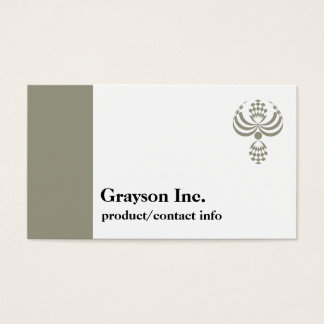 CHIC BUSINESS CARD_607 TAUPE/ WHITE TEMPLATE BUSINESS CARD