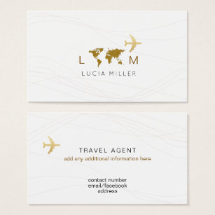 Travel agent business cards templates zazzle chic business card for a travel agent colourmoves
