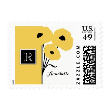 Professional Business CHIC BUSINESS STAMP_MOD  FLORAL YELLOW POPPIES POSTAGE