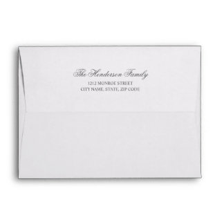 Chic Calligraphy | Pre-Printed Return Address Envelope