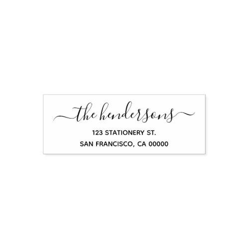 Chic Calligraphy Return Address Self_inking Stamp