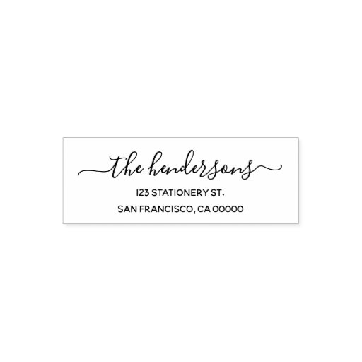 Chic Calligraphy Return Address Self-inking Stamp