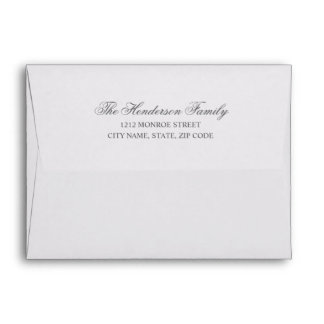 Chic Calligraphy | Return Address Thank You Card Envelope