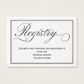 Wedding business cards templates zazzle for Gift cards for wedding registry