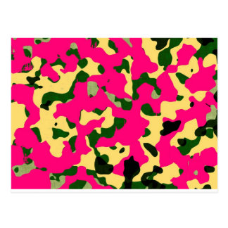 Chic camouflage postcard