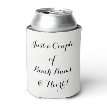 "Beach Themed CHIC CAN COOLER_""JUST A COUPLE OF BEACH BUMS"" CAN COOLER"