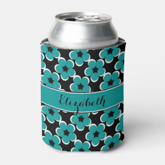 CHIC CAN COOLER_MODERN 148 TURQUOISE/BLACK/WHITE CAN COOLER