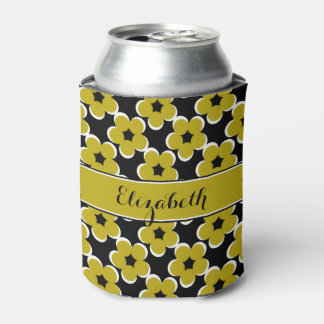 CHIC CAN COOLER_MODERN 191 GOL/BLACK/WHITE FLORAL CAN COOLER