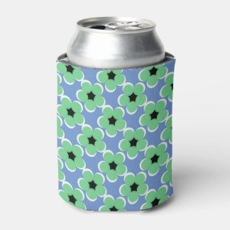 CHIC CAN COOLER_MODERN 62 MINT/BLACK/WHITE FLORAL CAN COOLER