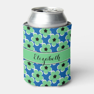 CHIC CAN COOLER_MODERN MINT/BLACK/WHITE FLORAL CAN COOLER