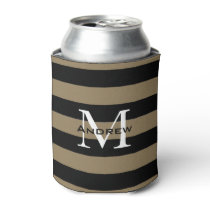 CHIC CAN COOLER_PREPPY STRIPES WITH MONOGRAM CAN COOLER