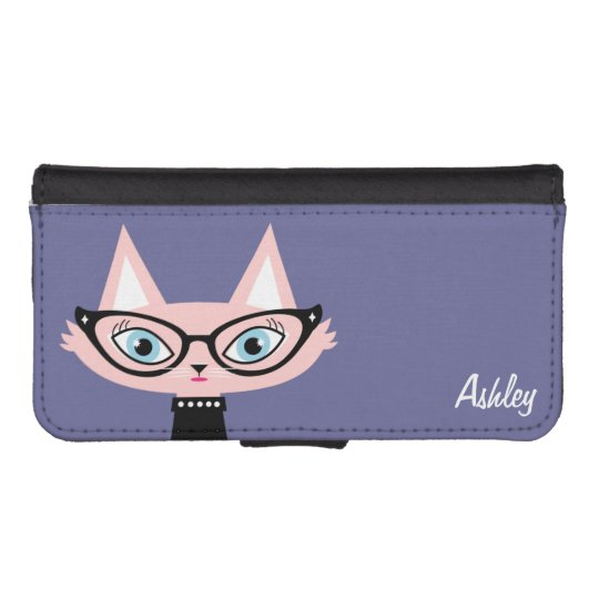 more photos 78762 54954 Chic Cat Personalized iPhone 5/5s Wallet Case
