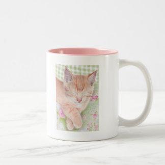 Chic Cat Two-Tone Coffee Mug