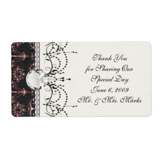 chic chandelier mod pin black damask label