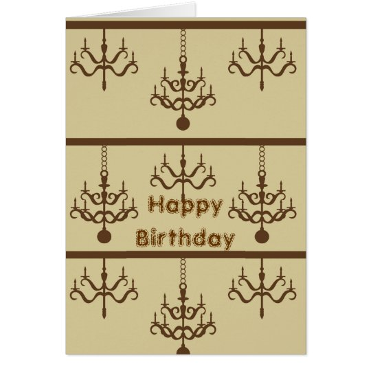 Chic Chandeliers Card
