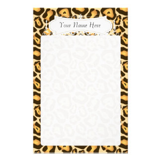 Chic Cheetah Fashion Print Personalized Stationery