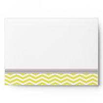 Chic Chevron Back Flap Address | yellow Envelopes
