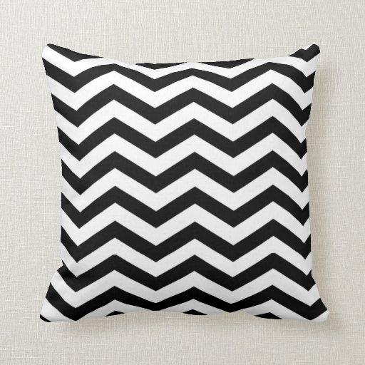 Black And White Chevron Throw Pillows : Chic Chevron black and white Throw Pillow Zazzle