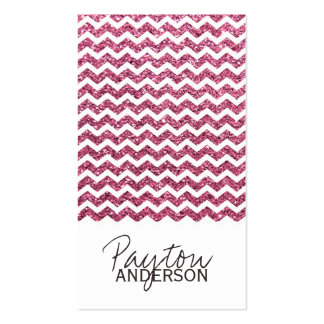 Chic Chevron Business Card Template
