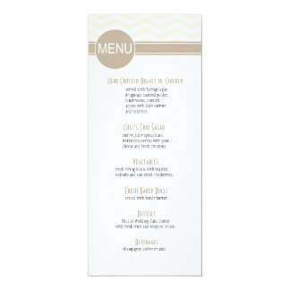 Chic Chevron Dinner Menu   blush Card