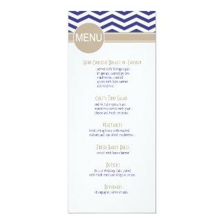 Chic Chevron Dinner Menu | navy Card
