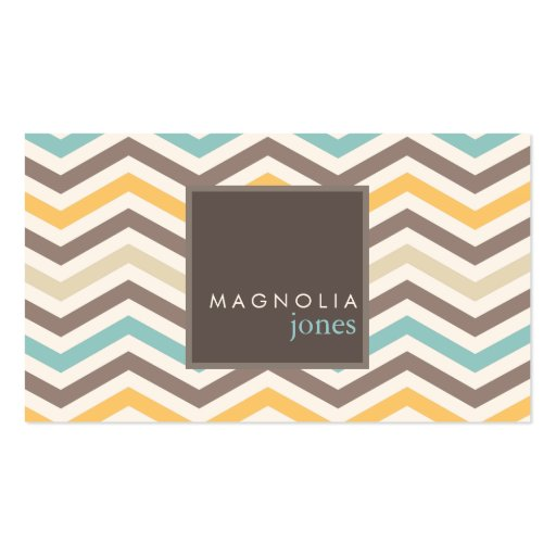 Chic Chevron Modern Professional Business Card