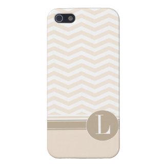 Chic Chevron Monogram | blush Cover For iPhone SE/5/5s