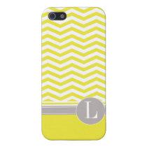 Chic Chevron Monogram | yellow Case For iPhone 5