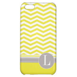 Chic Chevron Monogram | yellow iPhone 5C Cases